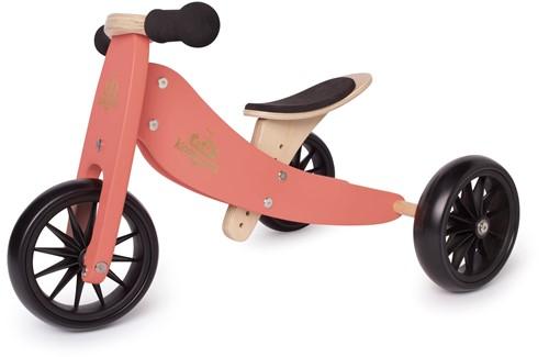 Kinderfeets houten loopfiets & driewieler Tiny Tot Coral