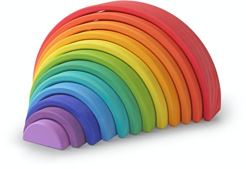 Kinderfeets grote houten Regenboog - Gekleurd
