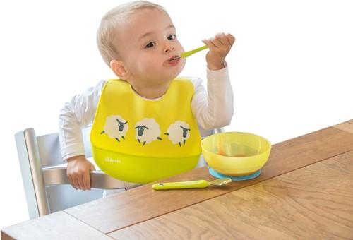 KidsMe Easy Clean Bib-Lime