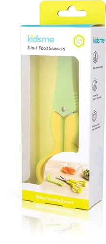 KidsMe 3-In-1 Food Scissors - Lime