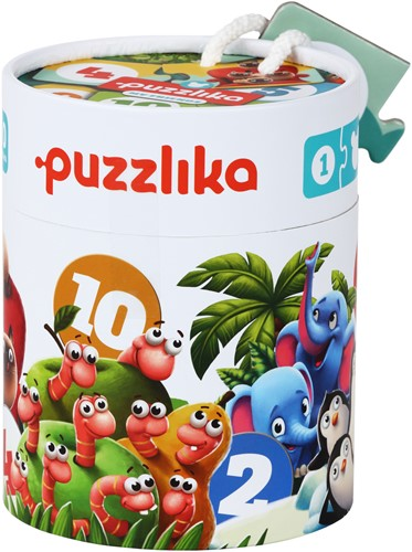 Puzzlika Puzzel - Dieren Tellen - 10x 2 stukjes