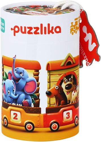 Puzzlika Puzzel - Dieren Trein - 10x 2 stukjes