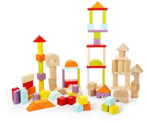 Cubika houten blokken - 80 stuks