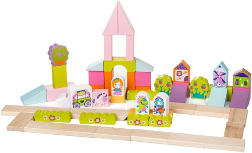 Cubika houten blokkenset kasteel