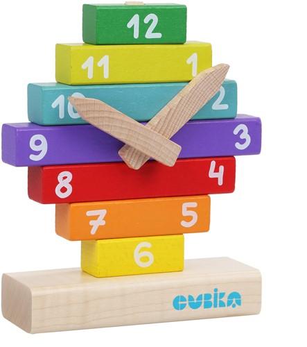 Cubika houten bouwset klok