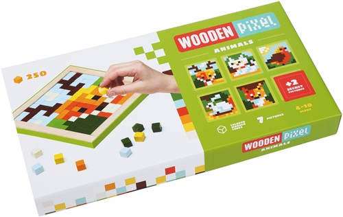 Cubika houten mozaïek - dieren