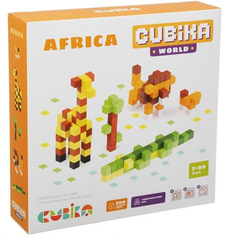 Cubika houten blokjes bouwset - Afrika