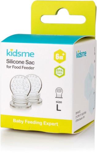 KidsMe New Tri-Fold Silicone Sac for Food Feeder(Size:L)-2 Pcs