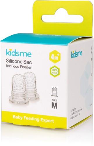 KidsMe New Tri-Fold Silicone Sac for Food Feeder(Size:M)-2 Pcs