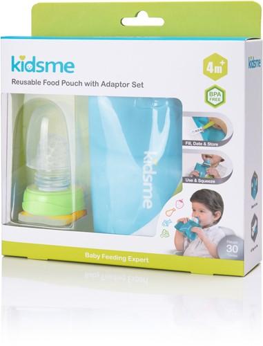 KidsMe Herbruikbaar etenszakje met feederset