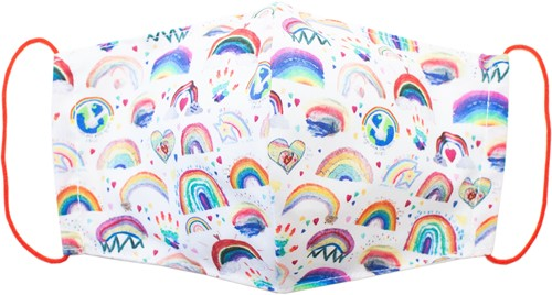 Stoffen mondkapje van wasbaar katoen - Rainbow (Adult)