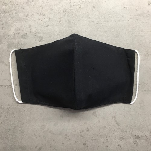Stoffen mondkapje van wasbaar katoen - BLACK ECO Basics (Adult)