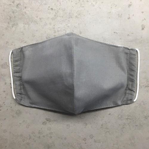 Stoffen mondkapje van wasbaar katoen - GREY ECO Basics (Adult)