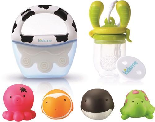 KidsMe Welcome Baby Gift Set (9649-1 set/9655-1 pc/160350LI-1pc/160464-1pc)