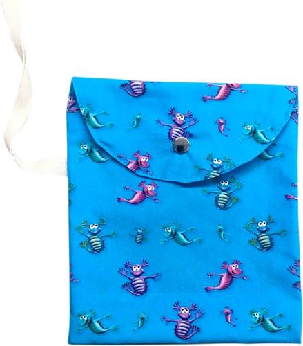 Masks for All AQUA DRAGONS Mask Bag with Snap Stud Close