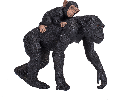 Mojo Wildlife - Chimpansee Met Baby 387264