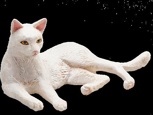 Mojo Pets - Kat Liggend Wit 387368