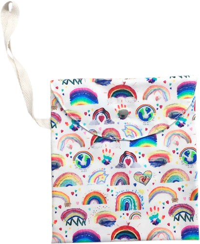 Masks for All RAINBOW Mask Bag with Snap Stud Close