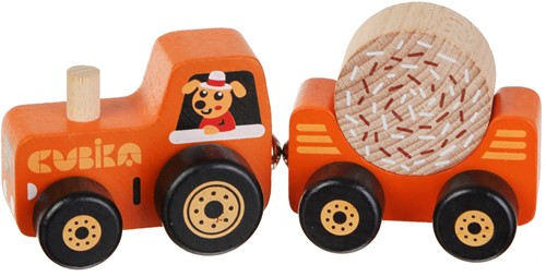 """Cubika Wooden toy """"""""Tractor"""""""""""