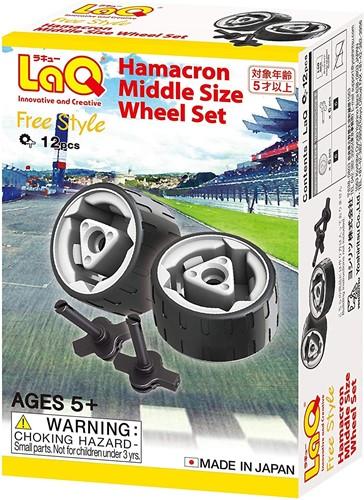 LaQ Free Style Hamacron Middle Size Wheel Parts Set