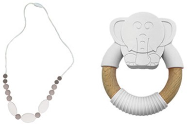 Edushape Happy Gums Set (Necklace + Teether)