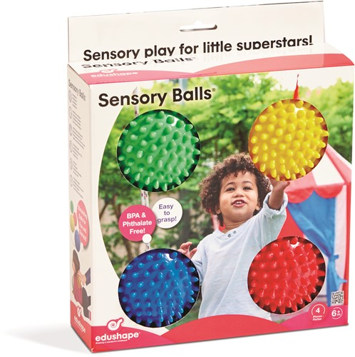 Edushape Small Sensory Ball (10 cm )-Set of 4-in CB