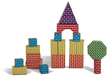 Edushape Corrugated Blocks Shapes (45 pcs)