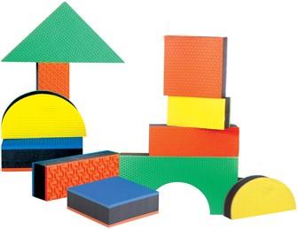 Edushape Jumbo Textured Blocks :  16 pcs