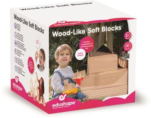 Edushape Wood- Like Soft Blocks 30 pcs
