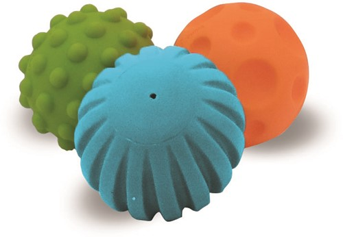 Edushape Textured Mini Ballen (3 stuks)