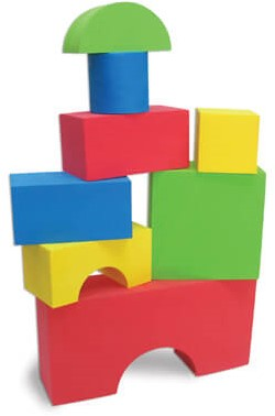 Edushape Big EduColor Blocks   70 mm