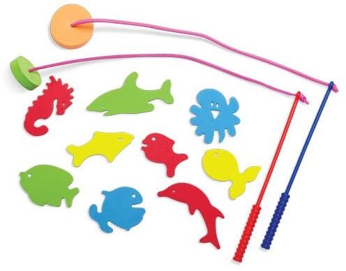 Edushape badspeelgoed Vis Plezier - 4 hengels & 36 vissen in doos