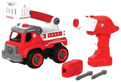 Edushape doe-het-zelf Truck + afstandsbediening (op batterijen) Brandweer