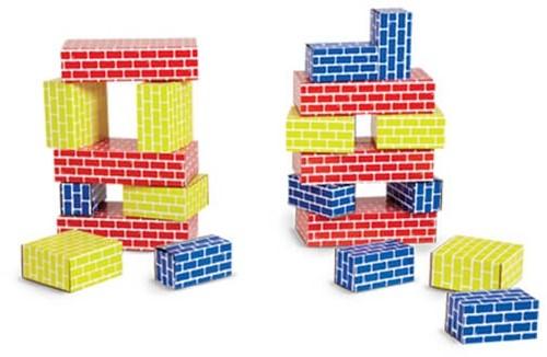 Edushape Kartonnen Blokken - 52 stuks