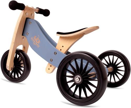Kinderfeets houten loopfiets & driewieler Tiny Tot Plus Slate Blue