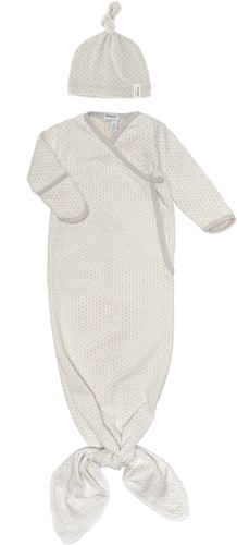 Snoozebaby ORGANIC new born cocoon 0-3 months incl hat TOG 1.0 Stone Beige