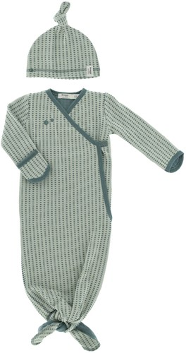 Snoozebaby ORGANIC new born cocoon 0-3 months incl hat TOG 1.0 Smokey Green