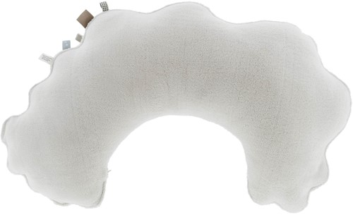 Snoozebaby ORGANIC feeding pillow Stone Beige, with detachable cover