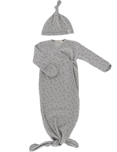 Snoozebaby ORGANIC new born cocoon 0-3 months incl hat TOG 1.0 Smokey Green Lets Grow
