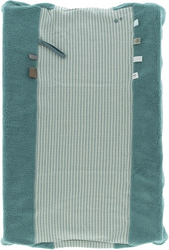 Snoozebaby ORGANIC Changing Cover Happy Dressing (45 x 70cm) Smokey Green