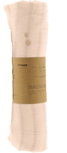 Snoozebaby ORGANIC Swaddle cot 120x120 cm Milky Rust, packed per 1