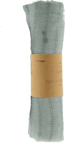 Snoozebaby ORGANIC Swaddle cot 120x120 cm Smokey Green, packed per 1