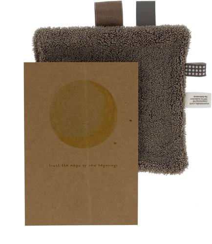 Snoozebaby Birth card gift set Warm Brown (birth card + envelope + comfort toy gift)
