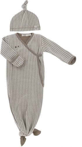 Snoozebaby ORGANIC new born cocoon 0-3 months incl hat TOG 1.0 Warm Brown