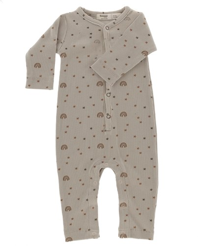 Snoozebaby ORGANIC suit rainbow girl 50-56 Milky Rust Rainbow