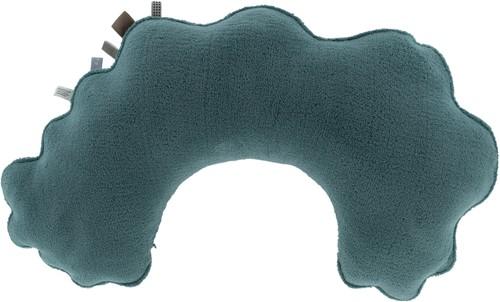 Snoozebaby ORGANIC feeding pillow Smokey Green, with detachable cover