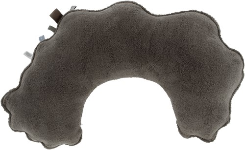 Snoozebaby ORGANIC feeding pillow Warm Brown, with detachable cover