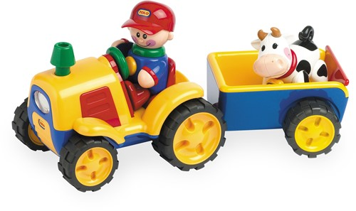 Tolo Toys Tractor/Trailer/Cow