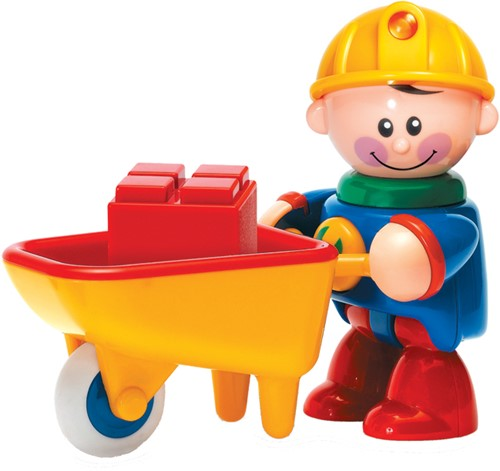 Tolo Toys Construction Worker with Wheelbarrow