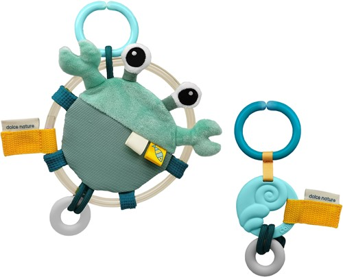 Dolce Toys Ocean - Shelly the Crab & Ocean Activity Teether